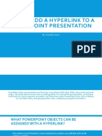 How to Add a Hyperlink to a PowerPoint