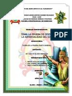 TRABAJO Sobre La Prueba de Oficio La Imparcialidad Del Juez.00