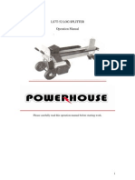 Powerhouse Log Spliiter Manual