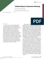 Critical values in laboratory medicine