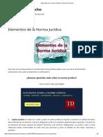 Elementos de La Norma Jurídica _ Temas de Derecho