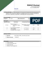 CV Nikhil