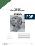 Utile Sp25vacuum Pump Iom