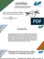 Clasificación de Las Herramientas y Equipo Empleado en El Diagnóstico Automotri