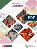 Instructivo para el Diseño de un proyecto cultural comunitario l