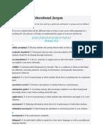 Dictionary of Educational Jargon