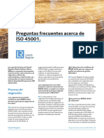 Preguntas Frecuentes Acerca de ISO 45001:2018