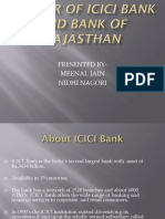 Merger of Icici Bank and Bank of Rajasthan