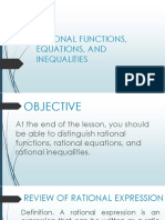 7 Rational Functions Equations Inequalities