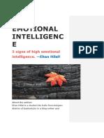 Emotional Intelligence by —Ehan Hilal!