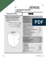 Hitachi SF-P105JJ Washing Machine User Manual