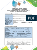 Guía de Actividades y Rúbrica de Evaluación - Tarea 2 - Identificar La Organización de Las Células