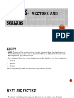 Vectors and Scalars Ppt