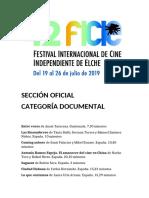 42 Festival Internacional de Cine Independiente de Elche. Sección Oficial. Documental. Fundación Caja Mediterráneo