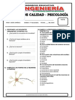 Psicología - 3ro Secundaria