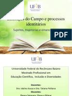 Educação Do Campo e Processos Identitários