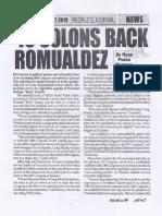 Peoples Journal, June 27, 2019, 40 solons back Romualdez.pdf