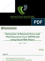 Extraction of External Force and Wall Reactions From NEMStatik Using Excel VBA Macro