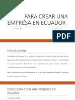 Pasos Para Crear Una Empresa en Ecuador