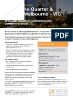 SPECIALIST DISABILITY ACCOMMODATION COMMUNITY FORUM - Vic Info Sessions