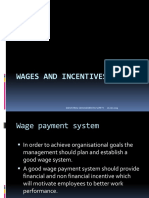 Wages and Incentives