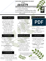 HOMEOPATHIC Anxiety Remedies