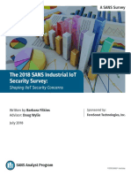 2018 SANS Industrial IoT Security Survey