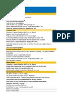 Basic QA Checklist
