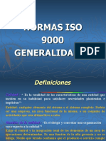 NORMAS ISO 9000 y Enfoque Caracterizacion de Procesos