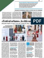Festival Urbano, la città sarà un teatro - Il Resto del Carlino del 26 giugno 2019