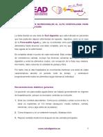 E. Recomendaciones Nutricionales de Pancreatitis Aguda