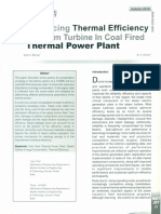 Thermal efficiency of  turbine  in a thermal power plant