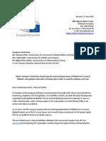 Carta de eurodiputados a favor de Madrid Central.