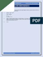 Fluid Mechanics (Practice Questions)