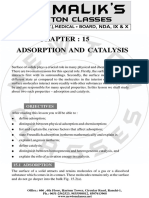 15. Adsorption and Catalysis