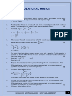 Rotational Motion (Practice Questions PDF)