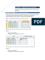 Les fonctions matricielles Excel