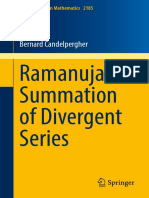 Ramanujan Summation of Divergent Series-Springer (2017)-- By Candelpergher, Bernard