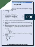 Gravitation (Practice Questions)