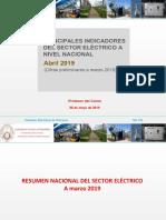 Estadística Eléctrica a Marzo de 2019