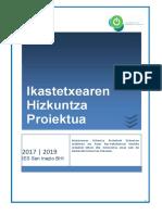 San Inazio BHI - Hizkuntza Proiektua 2017-2019
