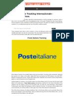 Poste Italian e Tracking|poste italiane tracking internazionale|poste italiane tracking number