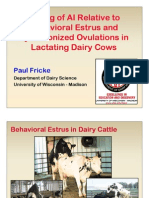 Timing of AI in Dairy Cattle