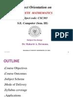 Discrete Maths-Orientation SH 2019