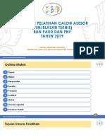 01. Orientasi Pelatihan Calon Asesor (Penjelasan Teknis)