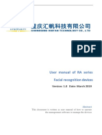 User Manual of Management Software for RA Series Facial Devices-V1.0