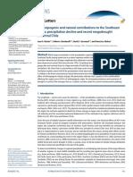 Las contribuciones antropogénicas y naturales a la disminución de las precipitaciones en el Pacífico suroriental y la reciente megasequía en el centro de Chile