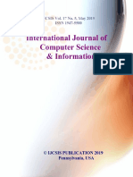 Journal of Computer Science IJCSIS May 2019 Full Volume