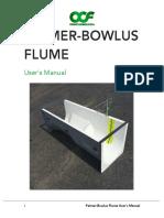 Palmer-Bowlus Flume Users Manual