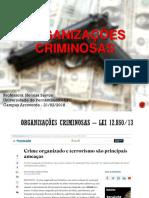 Prova Didática - Ponto 2 - Organizações Criminosas